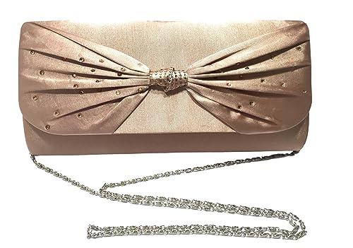 City Outlet - Cartera de mano de Material Sintético para mujer rosa Blush: Amazon.es: Zapatos y complementos