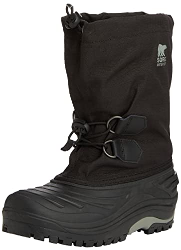 Sorel Youth Super Trooper, Unisex-Kinder Warm gefütterte Schneestiefel, Rot (Juicy, Nocturnal 608), 38 EU