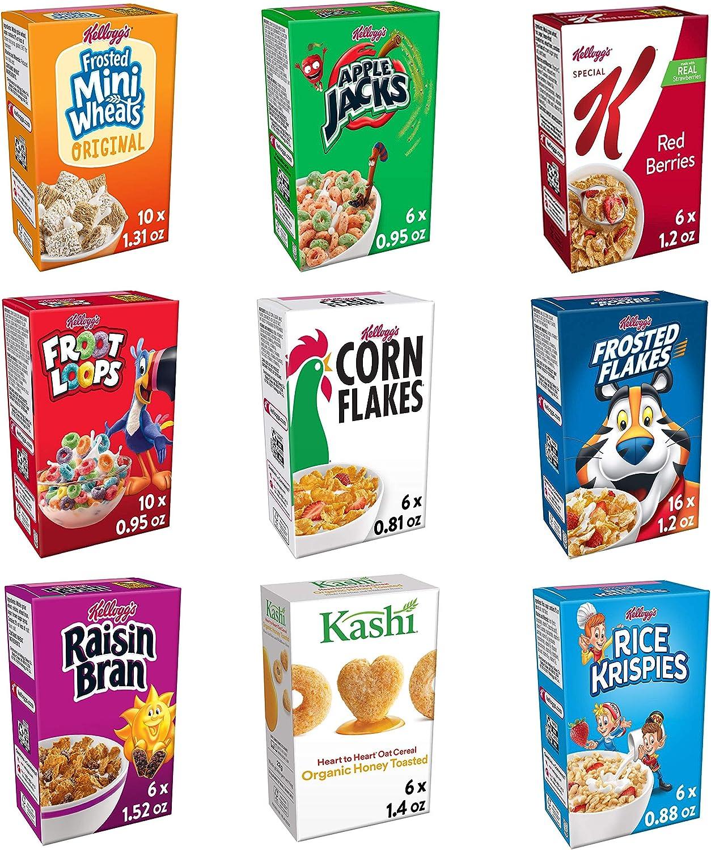 Kelloggs Cereal Variety Pack, Single Serve Boxes (Pack of 72): Amazon.es: Alimentación y bebidas