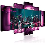 Bilder 200x100 cm - XXL Format - Fertig Aufgespannt – TOP - Vlies Leinwand - 5 Teilig - Wand Bild - Kunstdruck - Wandbild - Kunst Abstrakt 051477 200x100 cm B&D XXL