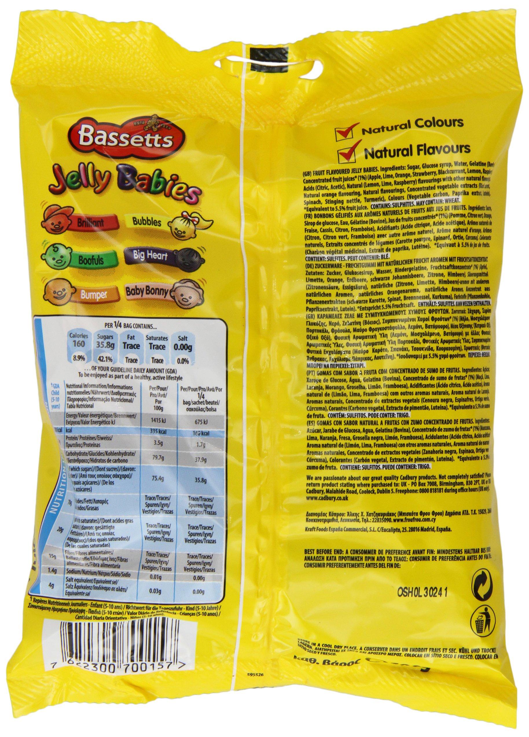 Bassett's Jelly Babies 190 G (Pack Of 12) by Bassett's