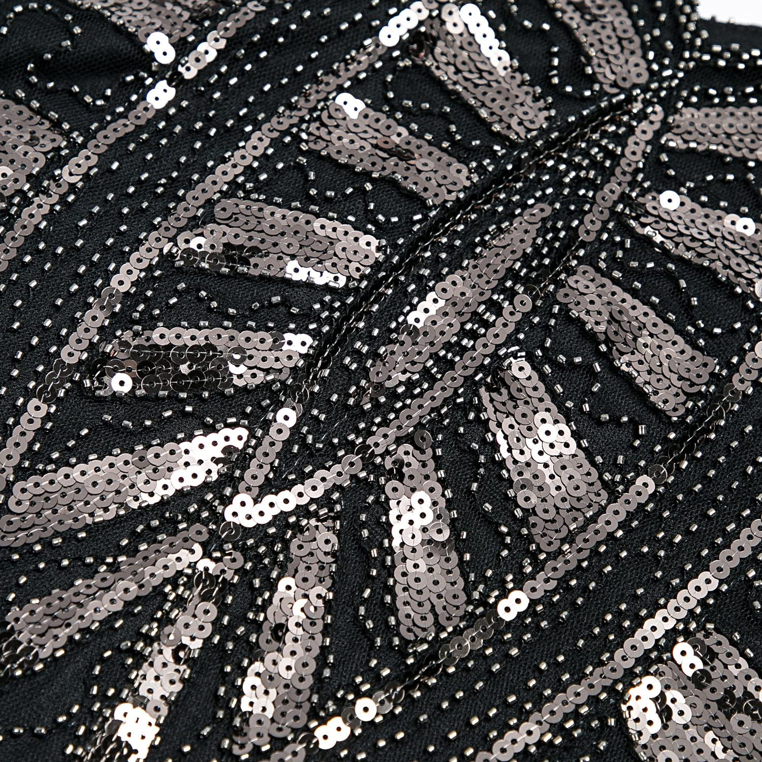 Metme 1920s Inspired Fringe Embellished Gatsby Flapper Midi Dress Prom Party