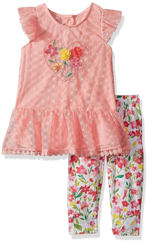 f06b781b704b Amazon.com: Nannette Girls' Toddler 2 Piece Peplum Tunic Legging Outfit  Set: Clothing