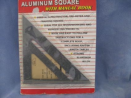 Aluminum Speed Square W Manual Book Tais0522 Carpentry Squares