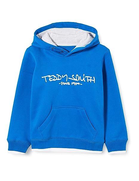 Teddy Smith Felpa Ragazzo Blu 10 Anni: Amazon.it