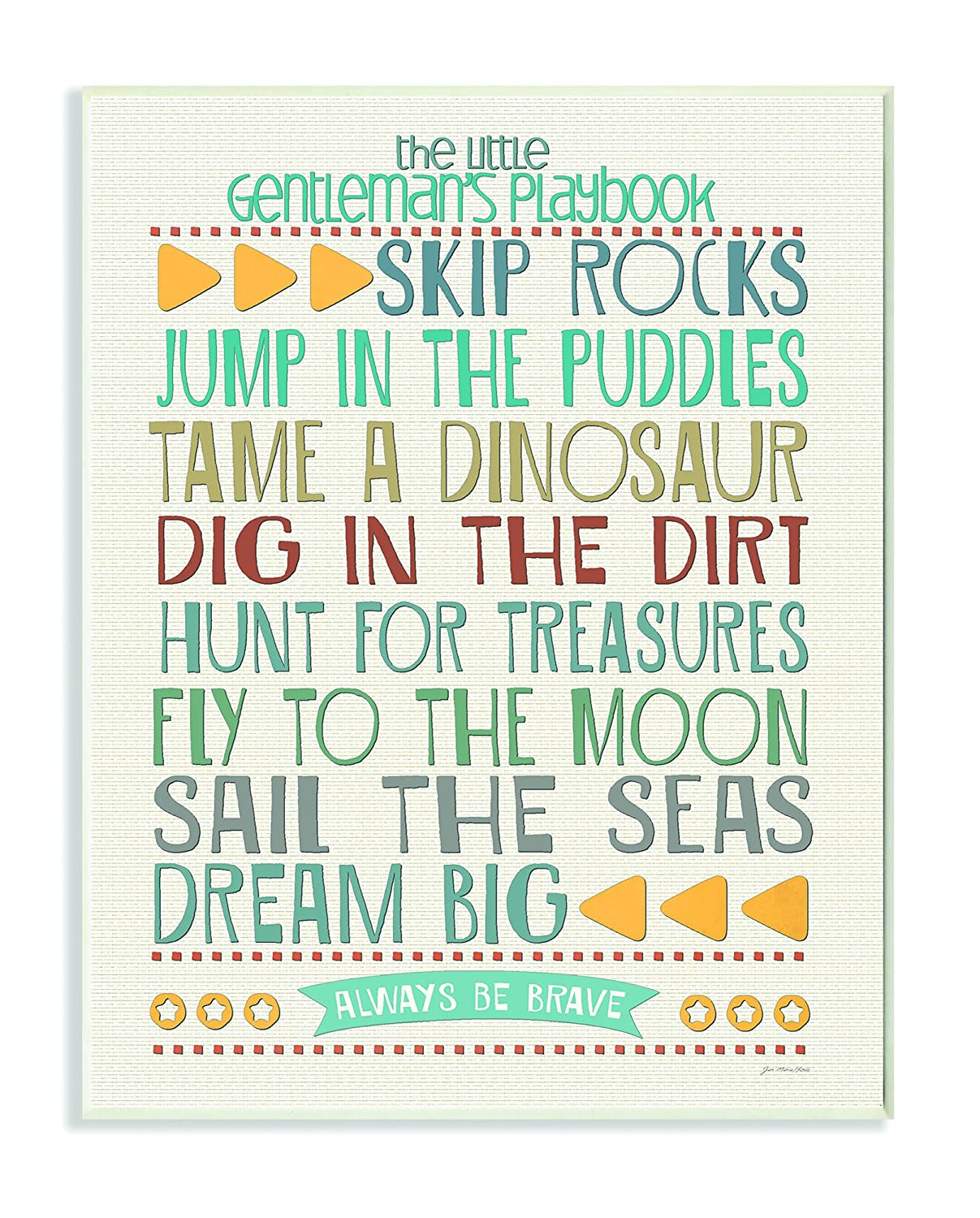 The Kids Room by Stupell Use Rainbow Typography Map On White Background Rectangle Wall Plaque Proudly Made in USA 11 x 0.5 x 15