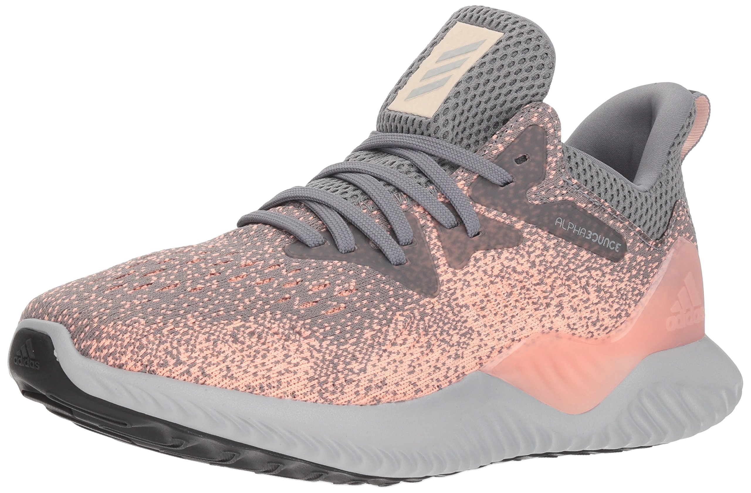 adidas Women's Alphabounce Beyond Running Shoe GreyClear Orange, 10 M US