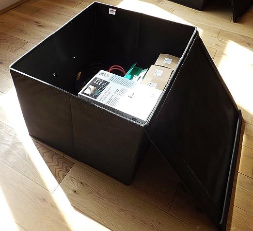 Neusu Starke Faltbare Aufbewahrungsbox Jumbo 60 Liter 50x40x30cm 1pack Schwarz