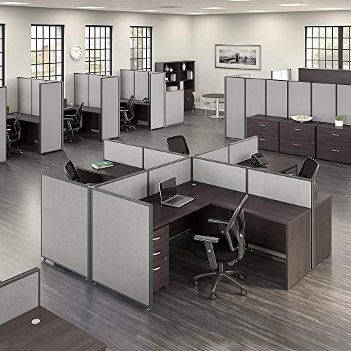 Bush Business Furniture ProPanels Office Partition, 66H x 60W, Light Gray