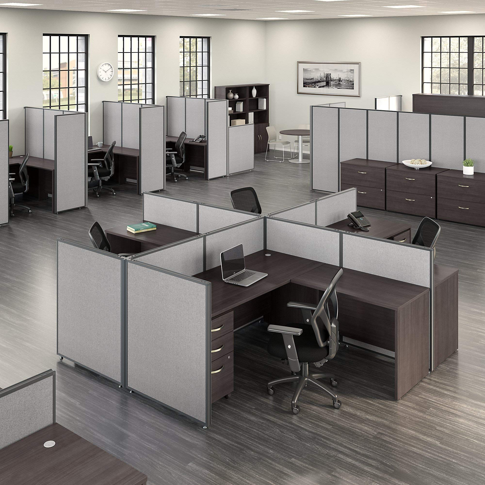 Bush Business Furniture PP66749-03 ProPanels Office Partition, 66H x 48W, Light Gray by Bush Business Furniture (Image #3)