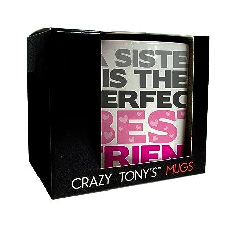 Personalised My Sister Best Friend Mug, Crazy Tony\'s Best Sister Mug ...