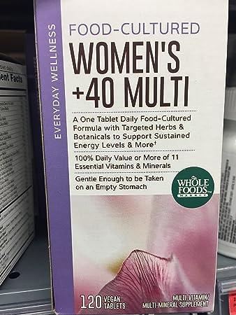 Amazon.com : Whole Foods Food-Cultured Women\'s +40 Multi - 120 ...