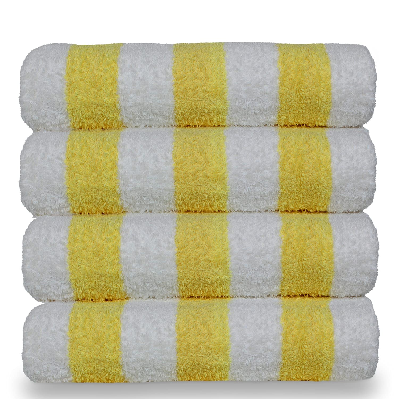 Cabana Luxury Hotel /& Spa Towel 100/% Cotton Pool Beach Towels Bare Cotton Cabana Beach Towels - Set of 4, Light Blue