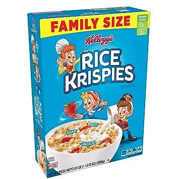 Amazoncom Kelloggs Rice Krispies Breakfast Cereal Original Fat