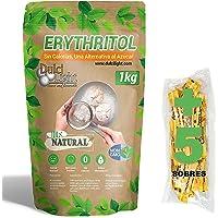 DULCILIGHT Eritritol 1 Kg 100% Natural Edulcorante Cero Calorías + (5 sobres Edulcorante Moreno) Apto Dietas Keto y…