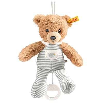 "Steiff Sleep Well Bear Music Box, Gray, 7.9"" : Toysandgames : Baby"
