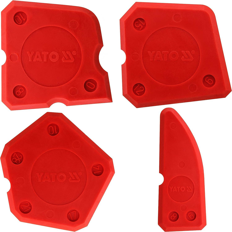4 pièces. Yato-Professionnel Silicone finishing tool kit de Silicone Spatules