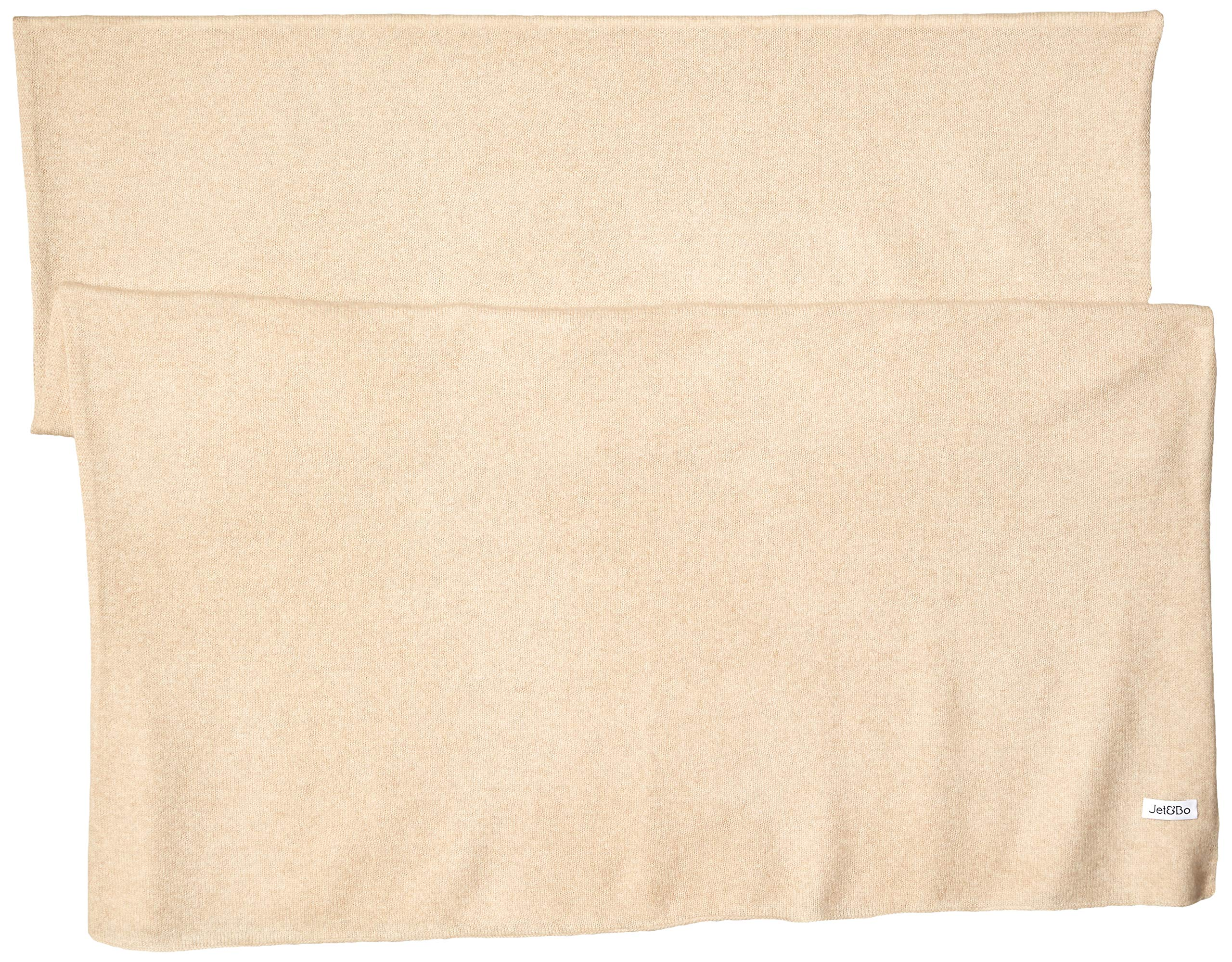 Jet&Bo 100% Pure Cashmere Lightweight Travel Wrap & Scarf Beige 7GG by Jet&Bo (Image #2)