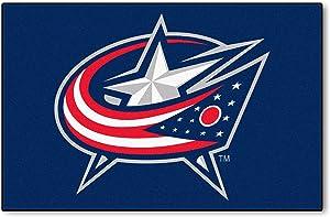 FANMATS NHL Columbus Blue Jackets Nylon Face Starter Rug