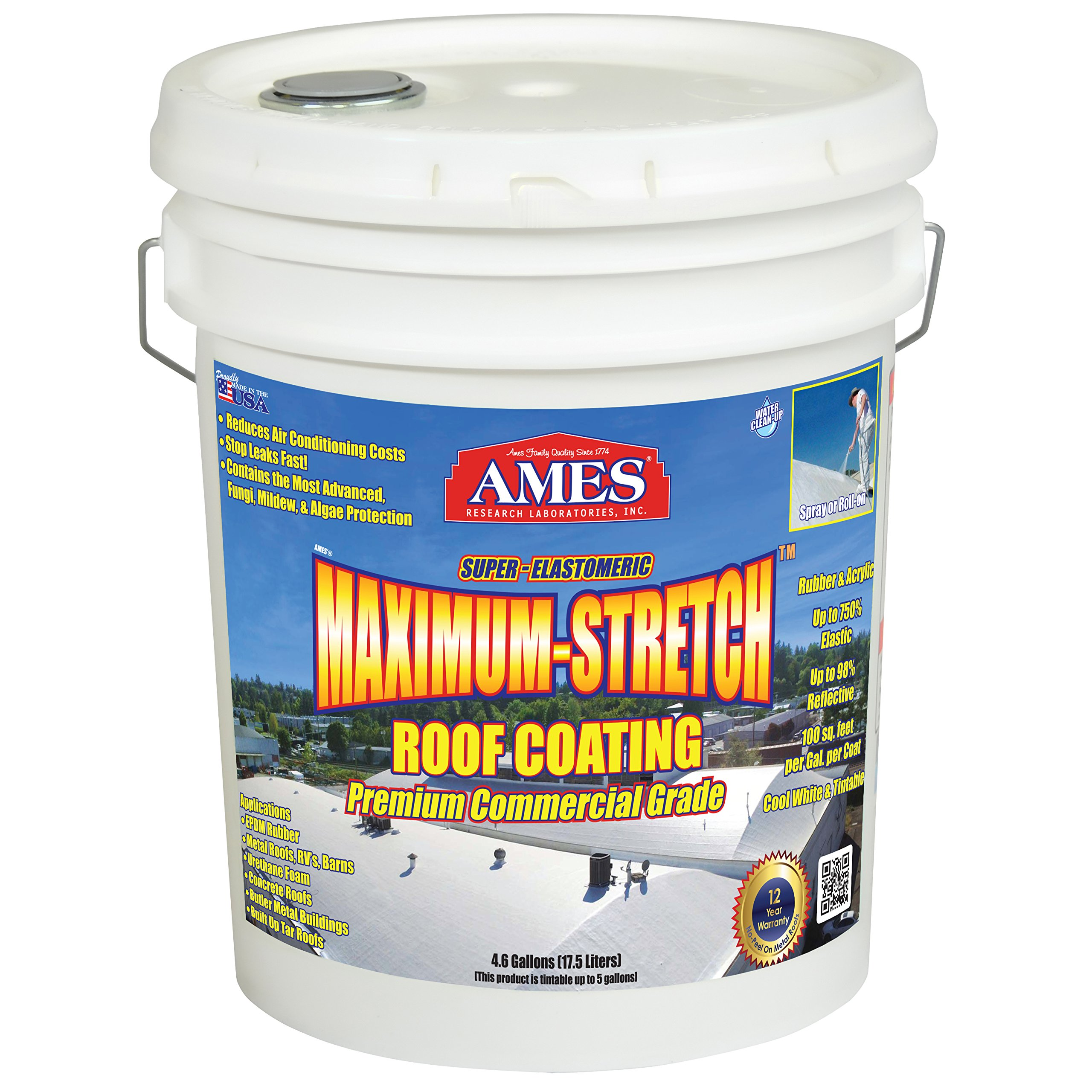 Ames MSS5TN Maximum Stretch 5 gallon Tan Maximum Stretch Roof coating