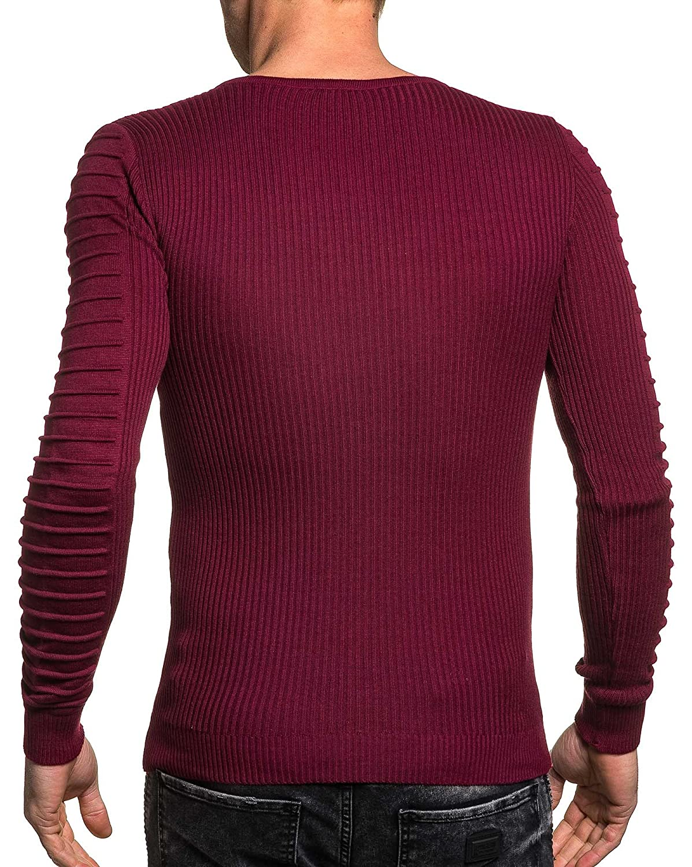 BLZ jeans - burgundy sweater man end V-neck