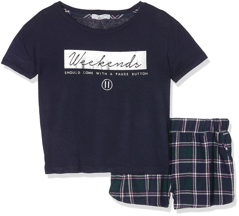 New Look Weekend - Conjuntos de Pijama para Niños, Color Multicolor (Navy/Check Print), Talla Small: Amazon.es: Ropa y accesorios