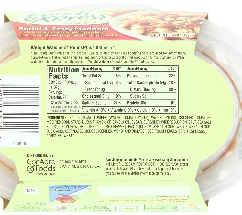 healthy choice lunch express rotini zesty marinara