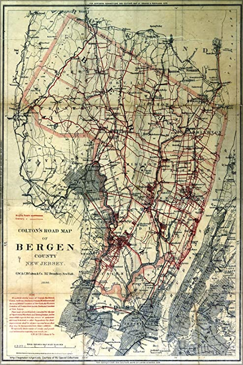 Amazon.com : 24x36 Poster; Map Of Bergen County In New ... on morris county, burlington county, somerset nj map, oakland nj map, richmond nj map, branch brook park nj map, orange county ny map, sussex county, waterloo village nj map, edgewater neighborhood chicago map, river edge nj map, sparta township nj map, independence township nj map, passaic county, radburn nj map, hudson county, oradell nj map, middlesex county, mercer county, palisades interstate parkway nj map, musconetcong river nj map, somerset county, westchester county, union county map, hunterdon county, essex county, rockland county, monmouth county, parsippany nj map, warren county, pittsburgh nj map, greenwich township nj map, maryland nj map, union county, delran township nj map, jersey city,