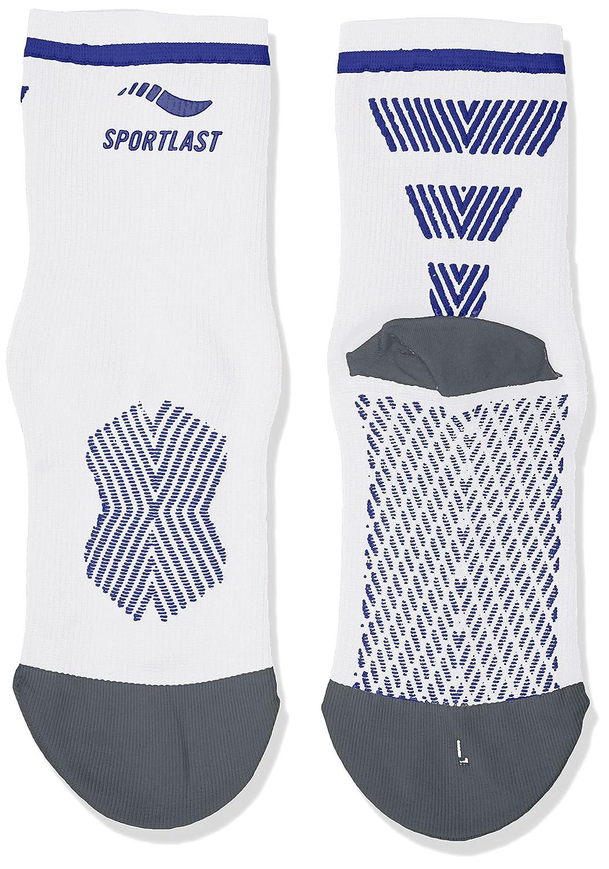 Sportlast Pro Calcetines de compresión para Ciclismo, Blanco/Azul, M: Amazon.es: Deportes y aire libre