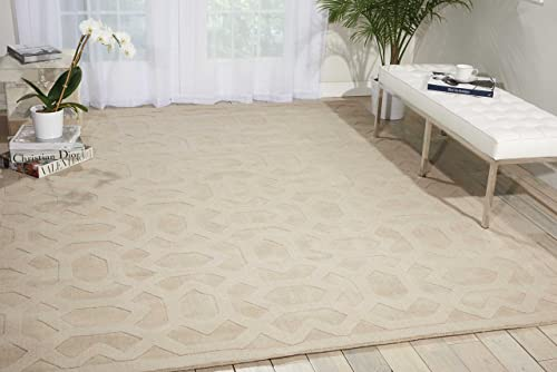Nourison Barcelona Sand Rectangle Area Rug, 3-Feet 6-Inches by 5-Feet 6-Inches 3 6 x 5 6