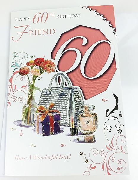 Friend 60th cumpleaños con texto en inglés tamaño grande ...