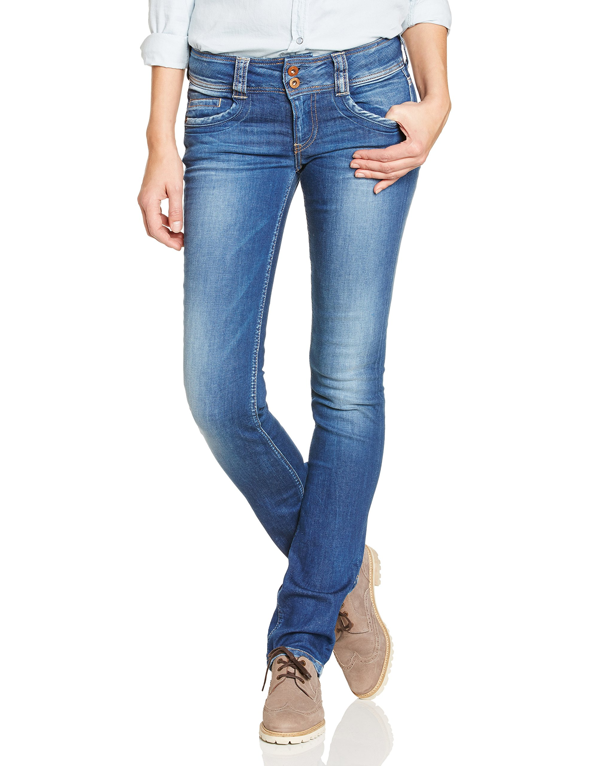 Pepe Jeans Womens Gen Straight Jeans Blue Size 28 Length 32 by Pepe Jeans