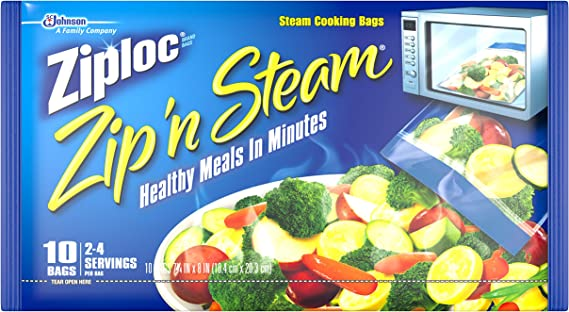 Ziploc Zip 'n Steam Meal Prep Bags