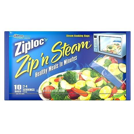 Ziploc bolsas de cremallera n de cocción al vapor (Pack de ...