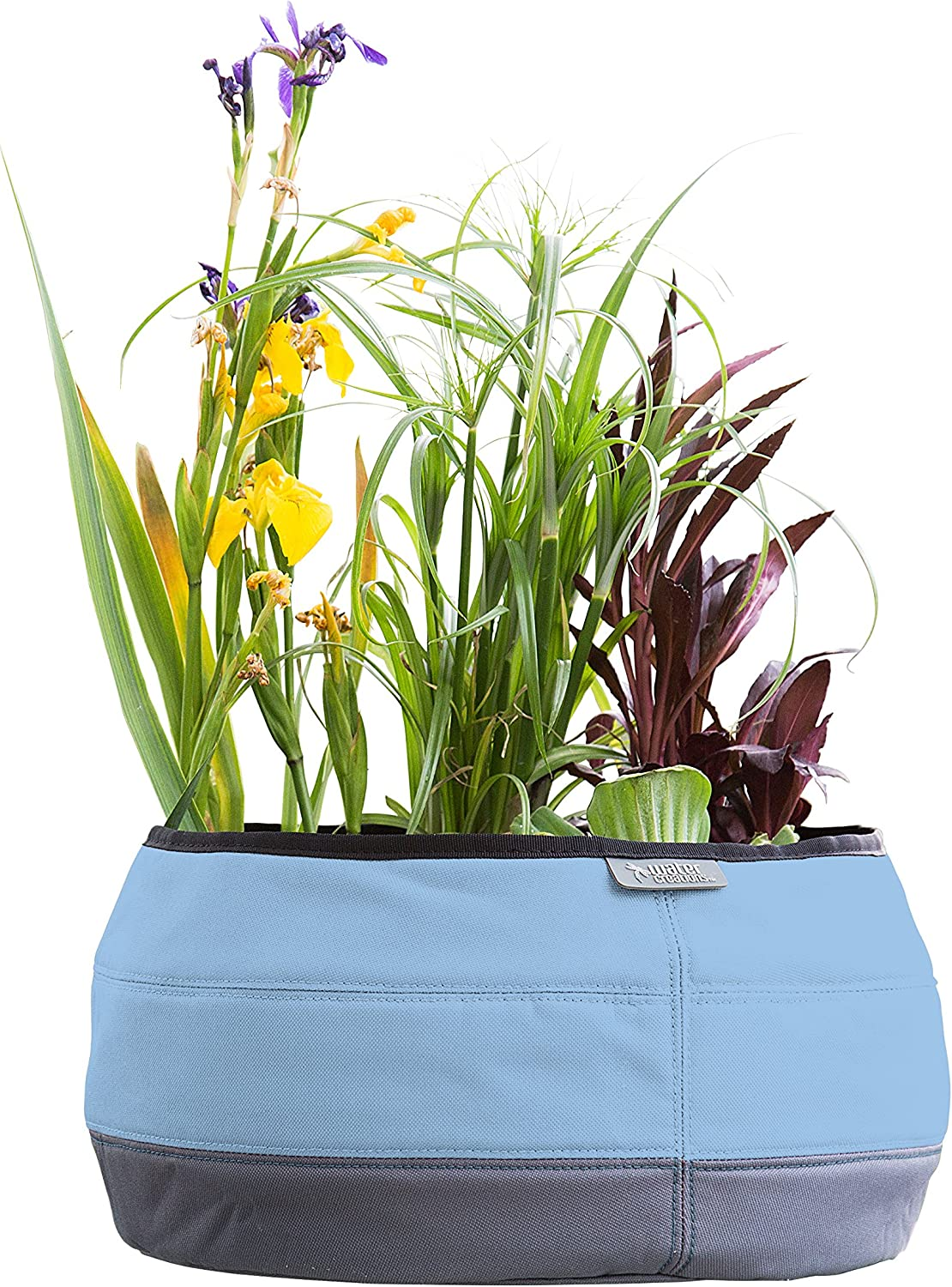 Water Creations Deco Planter Large Pot for Home and Garden, for use with Aquatic Plants, Herbs, and more, 13-Inch, Blue