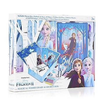 Disney Frozen 2 Diario Secreto Niña con Candado, Caja Sorpresa con ...