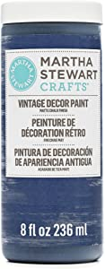 Martha Stewart 18071 Vintage Decor Matte Chalk Admiral Blue, 8oz Paint