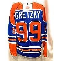 $325 » Wayne Gretzky Edmonton Oilers Signed Autograph Custom Jersey WGA Gretzky Authentic Certified