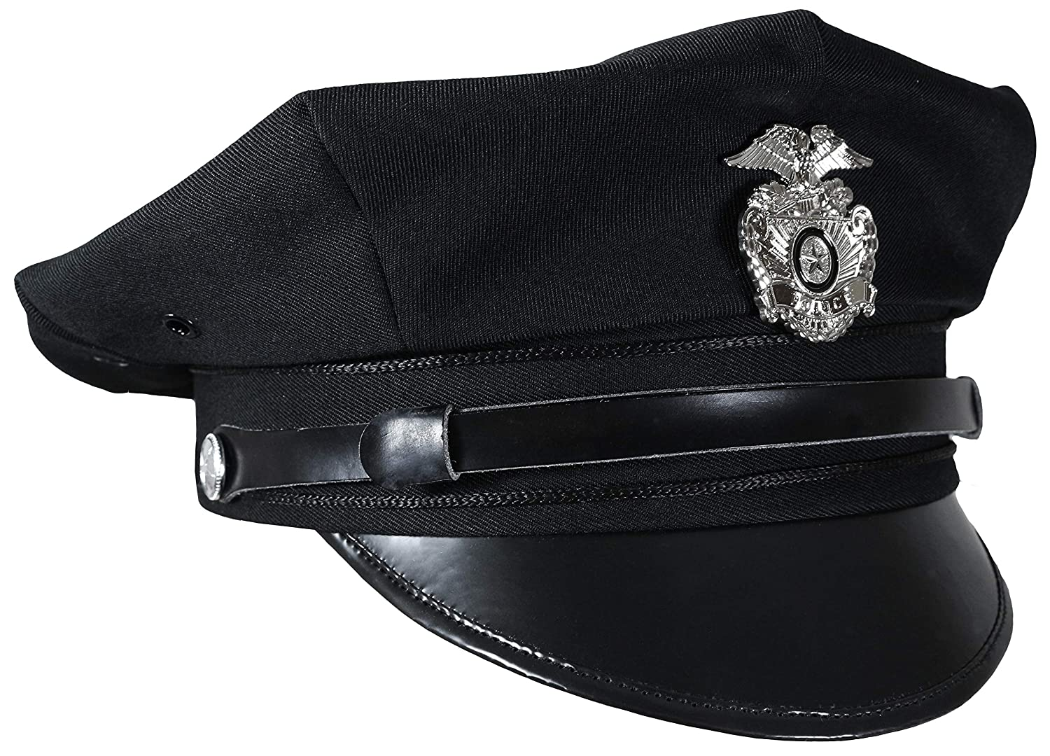 Mil-Tec US Police 8 Point Visor Cap - Black