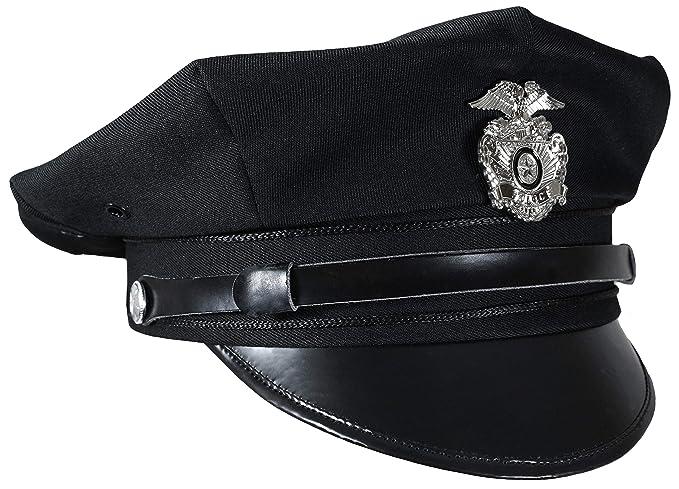 61c4fb6e03bd1 CASQUETTE US NOIR DE LA POLICE AMERICAINE DES ETATS UNIS MILTEC 12421100  TAILLE M