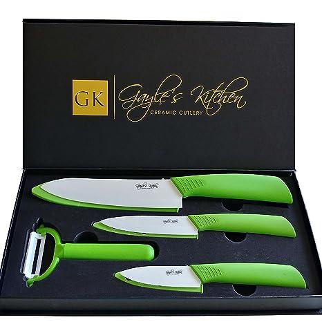 Amazon.com: Juego de cuchillos de cerámica, juego de 4 ...