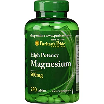 mini Puritan's Pride Magnesium Tablets