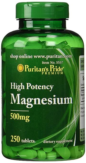 Puritan's Pride Magnesium 500 mg-250 Tablets