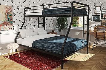 Bunk Beds for Kids Twin Over Full Boys Metal Ladder Bedroom Furniture Dorm  College Home Children Space Saver Sleeper