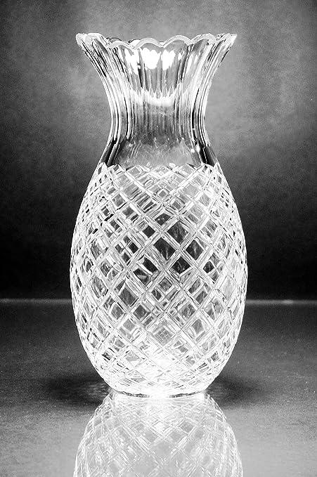 Amazon Kusak Cut Glass Works Pineapple Vase 6 Home Kitchen