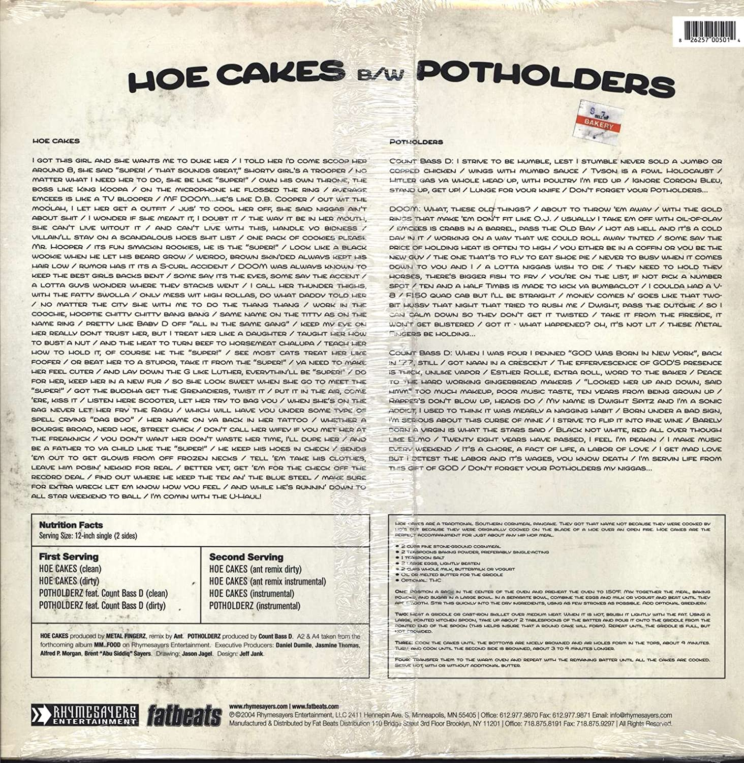 Mf Doom - Hoe Cakes - Amazon.com Music