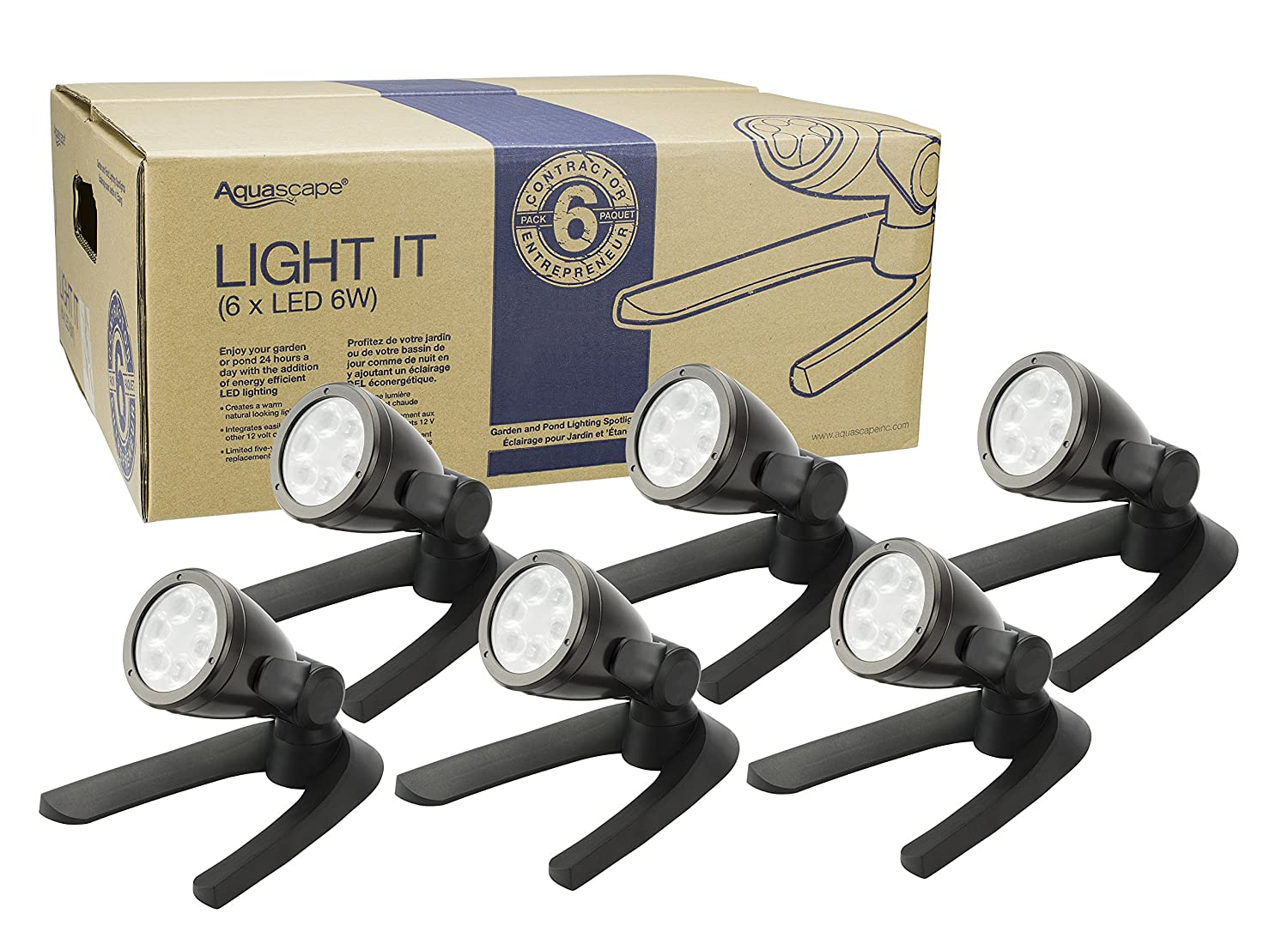 Aquascape 6W Contractor Pond and Landscape Spot Light (Pack of 6)