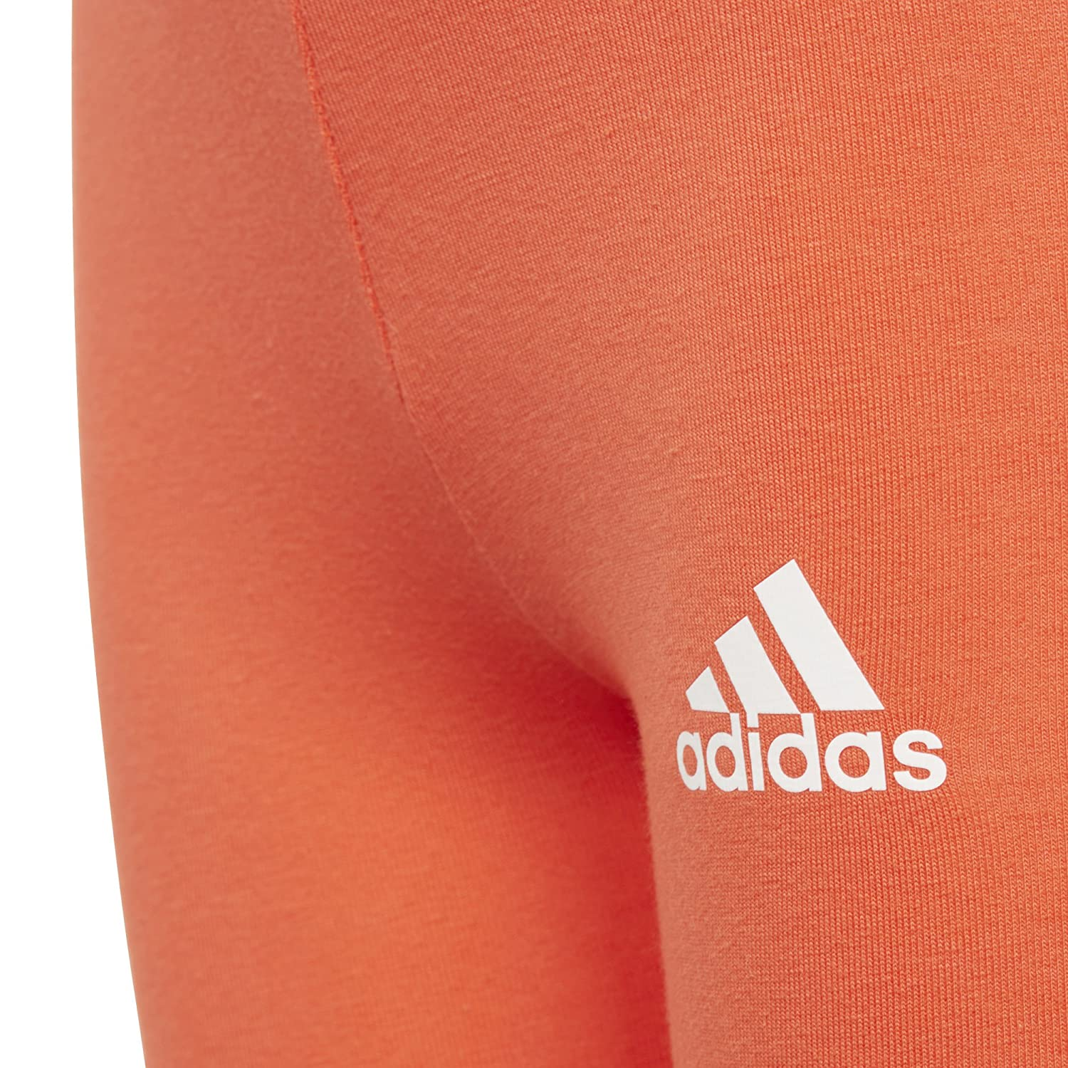 adidas Little Girls Cotton Tights 5 Bright Red//White