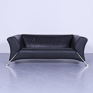 Amazonde Rolf Benz 322 Designer Leder Sofa Schwarz Zweisitzer