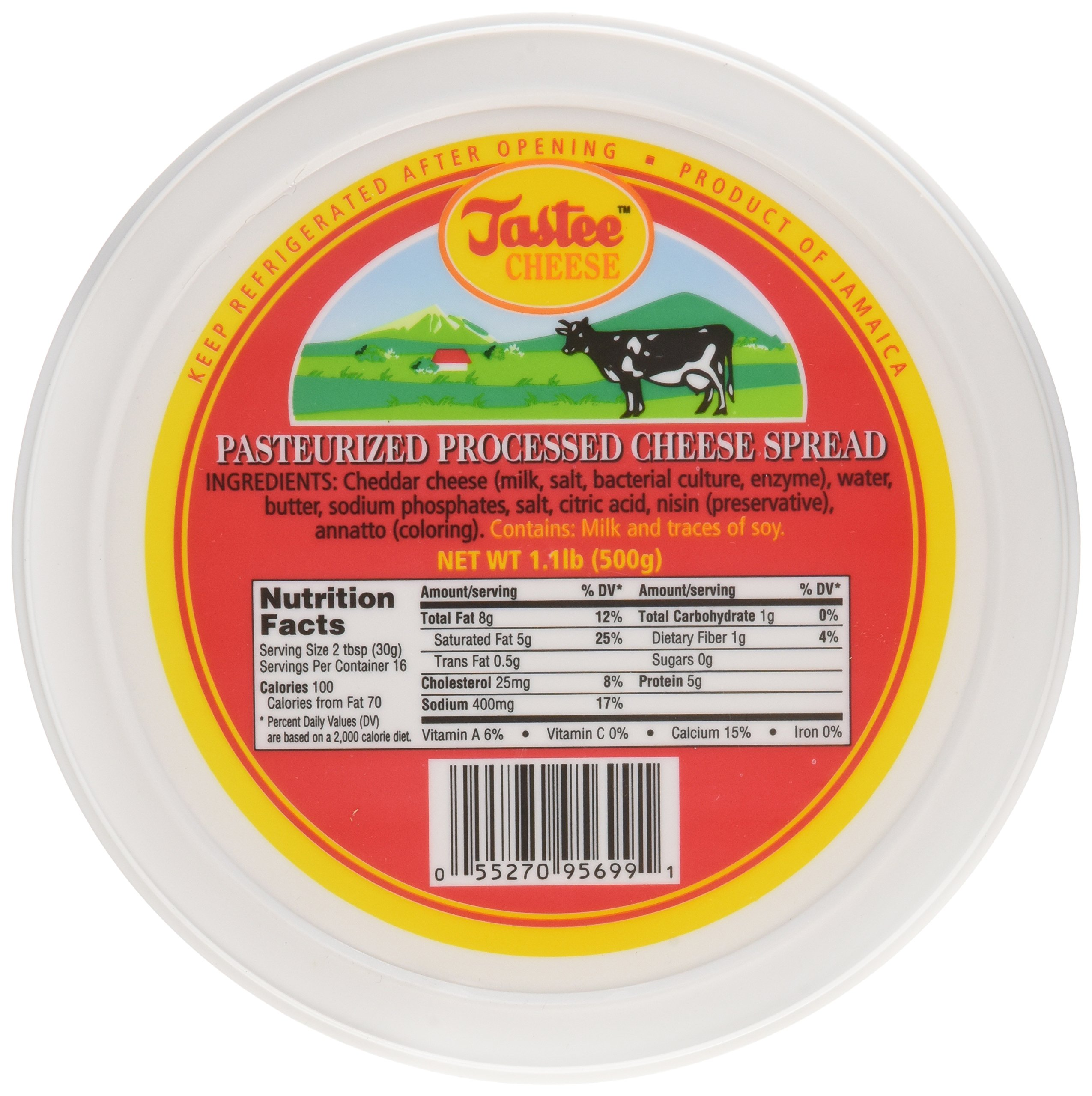 Jamaican Tastee Cheese, 17.6 oz (1.1 lb) by Tastee